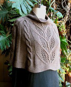 Ravelry: Milkweed Capelet pattern by Carol Sunday