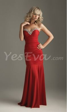 Unique Strapless Sweetheart Open Back Prom Evening Dresses with Beaded.$129.95