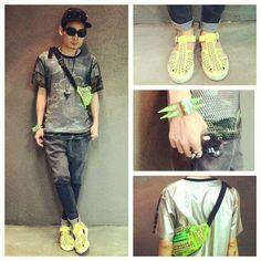 Top: zwaaa | Pants: Zucca | Cap : Somad | Sunglasses : kusbi | Acc: givenchy