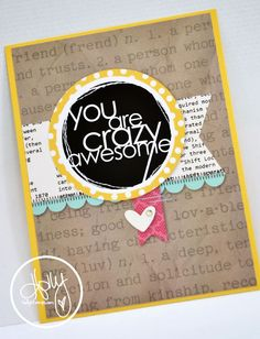 Create Something Everyday, crazy awesome card