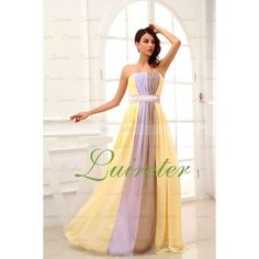 Dresses WeddingYellow prom dress Aline Floor by Myweddingdress, $133.00