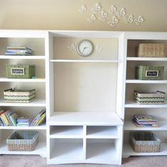 How to Make a Built-in Media Center {trash to treasure}