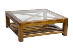 Стол журнальный Wisconsin Coffee Table. Журнальный стол, со стеклянным топом поддерживаемым пересекающимися декоративными направляющими. Выполнен из массива  дуба. Финишное покрытие - лак на водной основе.