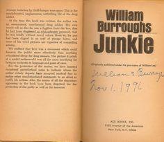'Junkie', William Burroughs