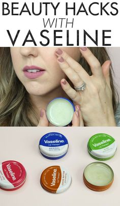 Beauty Hacks with Vaseline - these are so great, especially when you're in a pinch! You'd be surprised what you can do with Vaseline!