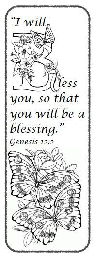 "Balanced Living Bible Study: FREE Genesis 12 Bookmark - ""I will bless you..."""
