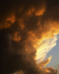 ˚Billowing Thunderstorms Glow - Sweetwater, Texas