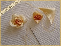 Wonderful Ribbon Embroidery Flowers by Hand Ideas. Enchanting Ribbon Embroidery Flowers by Hand Ideas. Rose Embroidery, Silk Ribbon Embroidery, Cross Stitch Embroidery, Embroidery Thread, Embroidery Stitches Tutorial, Hand Embroidery Patterns, Embroidery Designs, Band Kunst, Ribbon Art