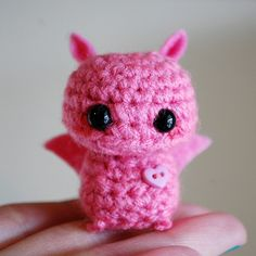 tiny amigurumi monster #crochet