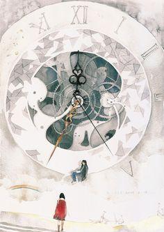They reminds me Setsuna/Pluto and Hotaru/Saturn Animation Background, Fanart, Anime Scenery, Chinese Art, Retro, Amazing Art, Fantasy Art, Cool Art, Concept Art