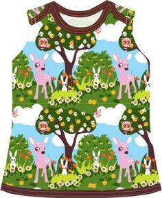 Materialen: * Tricot Znok Design - Bambi ( jurkje )  100 cm bij 30 cm - ( maat 56 ) (0 - 2 maanden)  100 cm...