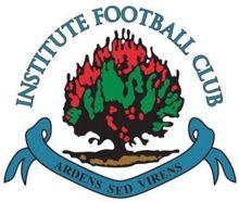 Institute F. Football Team Logos, Football Soccer, British Football, Soccer World, Sports Clubs, Ferrari Logo, Northern Ireland, Badges, Signage
