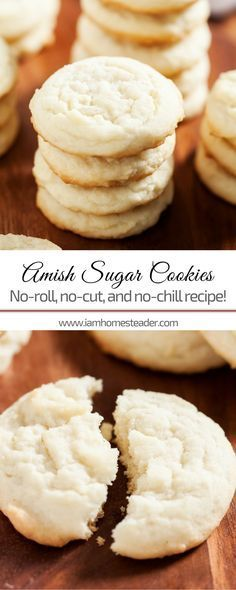 Looking for easy sugar cookies recipe yet soft, chewy and the best  just like grandma used to make? You gotta try this Amish Sugar Cookies! Simple, homemade and sweet sugar cookie recipe your kids will definitely love! Check us out @iamhomesteader for more healthy homemade cooking and easy homesteading recipes you can do at home.  #Homestead #homesteading #sugarcookies