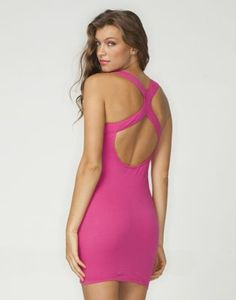 Motel Coco Backless Hot Pink Bodycon Dress