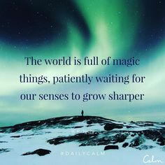 Today, be mindful of the repetitive acts you engage in, the streets you walk, the sounds you hear, the settings you explore. Try observing things with fresh eyes. And notice the magic ✨