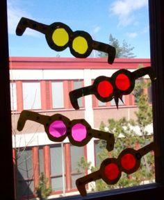 vappuaskartelua, värikkäät lasit