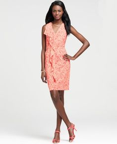Ann Taylor Ruffle Front Dress
