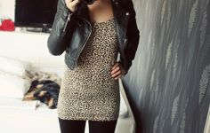 animal, animal print, city, dress, fashion, girl