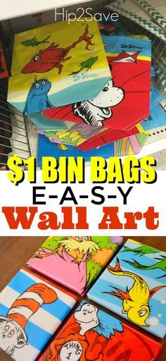 Dr. Seuss Wall Art Created from $1 Reusable Bags (Super Easy & Budget-Friendly) – Hip2Save
