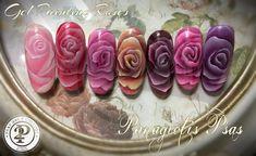 GEL PAINTING ROSES  #psas nails college  #gel painting #makro roses #nail art