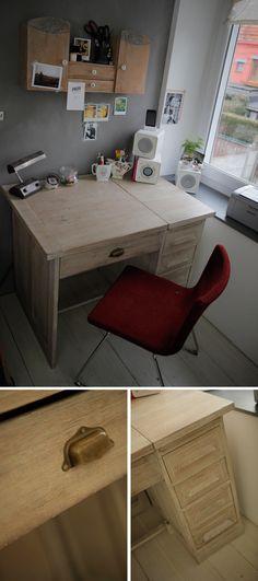 bureau Sweet Home, Office Desk, Corner Desk, Projects To Try, Furniture, Home Decor, Veils, Desk, Home Decoration