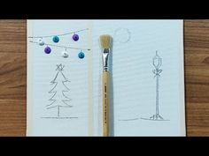Christmas landscape Painting Ideas | Christmas Tree | Snowman | Easy Acrylic Painting For Beginners - YouTube Basic Painting, Acrylic Painting For Beginners, Simple Acrylic Paintings, Painting Tools, Simple Christmas, Christmas Tree, Christmas Landscape, Acrylic Canvas, Hello Everyone