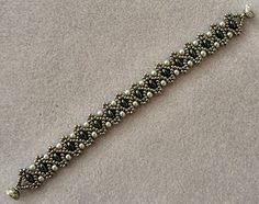 Linda's Crafty Inspirations: Bracelet of the Day: Duo Bobble Band - Jet & Grey