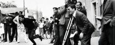 """Pasolini sul set di """"Accattone"""" (1961)"""