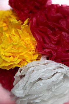 Tissue paper decorations