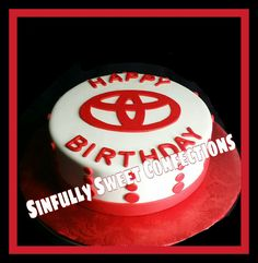 Toyota Themed Birthday Cake