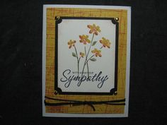floral sympathy using Stampin Up Close as a Memory