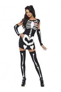 Déguisement squelette sexy phosphorescent