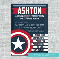 Digital Invitation - Captain America