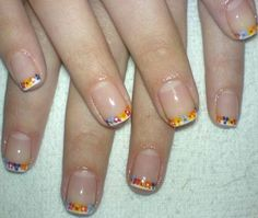 Cute Nail Polish Designs for Short Nails. flowers on top of white tips Nail Designs Tumblr, Cute Nail Art Designs, Short Nail Designs, Simple Nail Designs, Nail Polish Designs, Cute Nail Polish, Nails Polish, Cute Short Nails, Short Nails Art