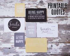 Be Happy // A collection of quotes. #printable #quotes #inspiration #happiness