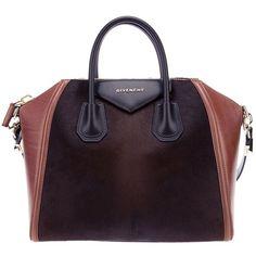 GIVENCHY two-tone tote (£1,355) ❤ liked on Polyvore featuring bags, handbags, tote bags, givenchy, bolsas, givenchy tote, purple tote bag, purple handbags, zip top tote bag and givenchy handbags
