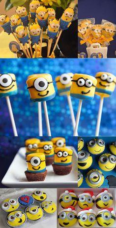 minions cupcake y chupetines
