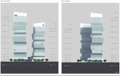 CDB Tower & Minsheng Financial Tower Competition Proposal / Saraiva + Associados,elevations