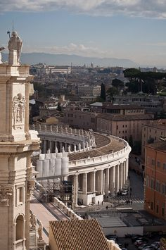 View from the roof of St. Peter's Basilica - Rome, Italy