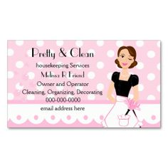 Keep Calm and Call A Cleaning Lady Business Card | Business cards ...