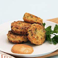 Quinoa and scallion croquettes