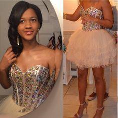 2016 Custom Charming Beading Tulle Homecoming Dress,Cute Sweetheart Short Homecoming Dress