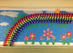 Mackrille PTA Spring Bulletin Board- April Showers Bring May Flowers.