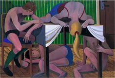 Conversation - New Leipzig School - Nude - Oil on canvas