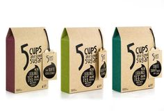 """5 cups and some sugar"" tea, to be selected by the customer"