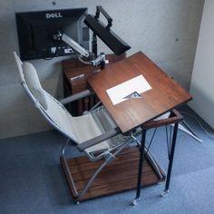 ergonomischer pc tisch zum selber bauen update pc. Black Bedroom Furniture Sets. Home Design Ideas