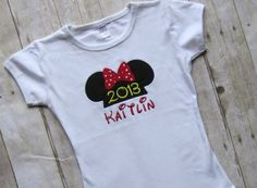 Personalized Childrens Minnie Mouse or Mickey Mouse Shirt- Disney Shirt- Minnie Mouse Shirt- Mickey Mouse Shirt- Vacation- Disneyland via Etsy