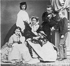 Elisabeth de Wittelbasch with her family