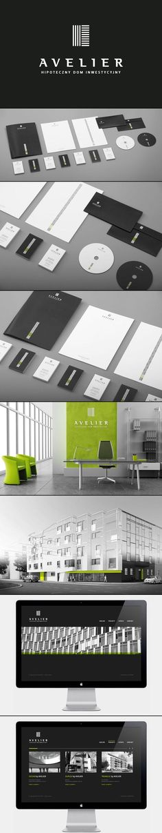 Modern Corporate Identity for AVELIER by artentiko