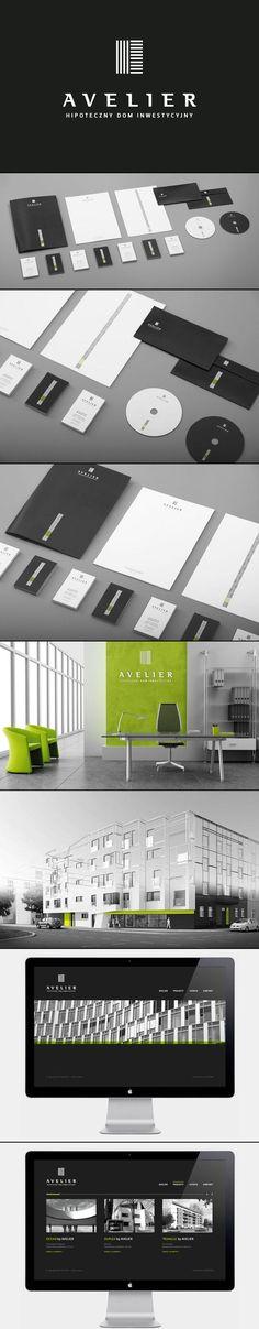 Modern Corporate Identity for AVELIER by artentiko